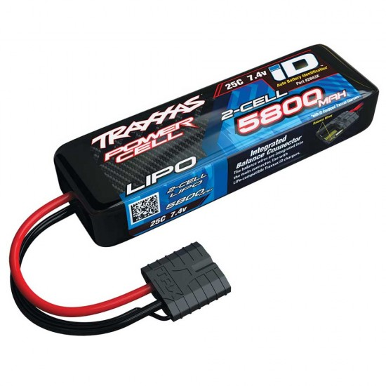 Traxxas iD Power Cell LiPo, 7.4V 2S, 5800mAh, 135mm