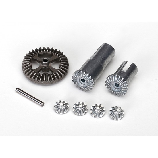 Gear set, differential, output and spider gears