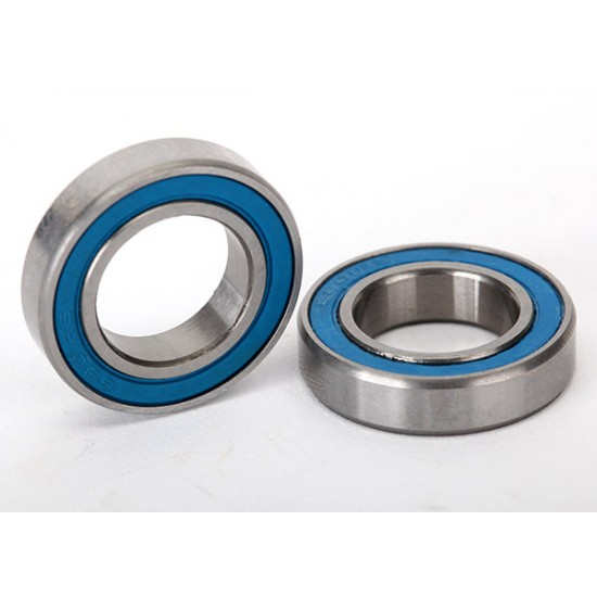 Ball bearings, 12x21x5mm, blue rubber sealed (2)