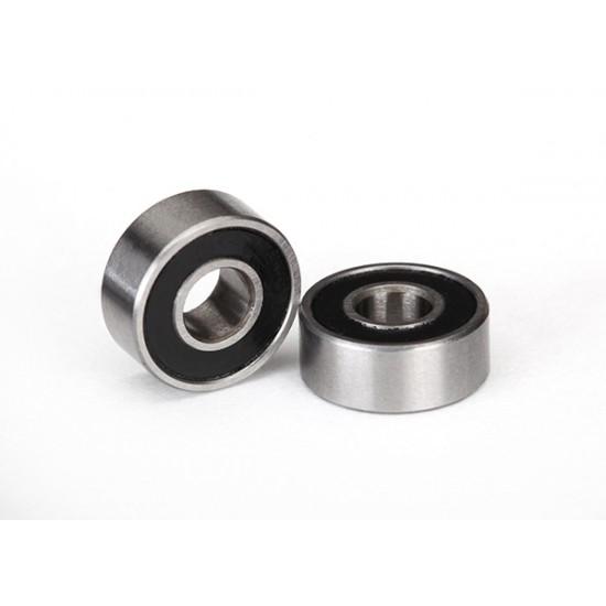 Ball bearings, 4x10x4mm, black rubber sealed (2)