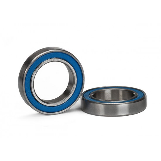 Ball bearings, 15x24x5mm, blue rubber sealed (2)