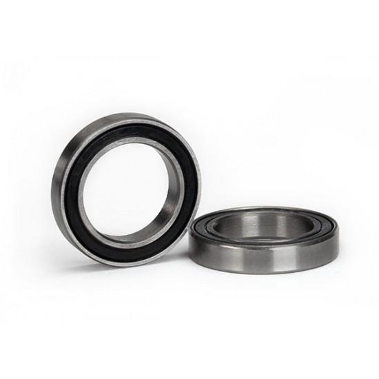 Ball bearings, 15x24x5mm, black rubber sealed (2)