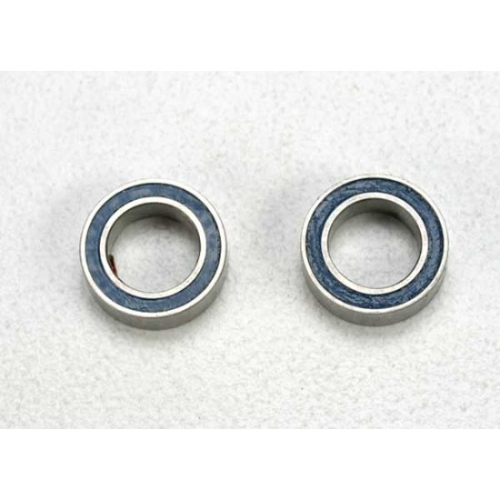 Ball bearings, 5x8x2.5mm, blue rubber sealed (2)
