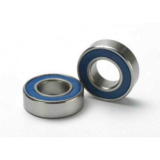 Ball bearings, 8x16x5mm, blue rubber sealed (2)