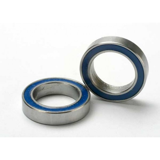 Ball bearings, 12x18x4mm, blue rubber sealed (2)