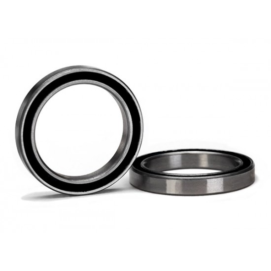 Ball bearings, 20x27x4mm, black rubber sealed (2)