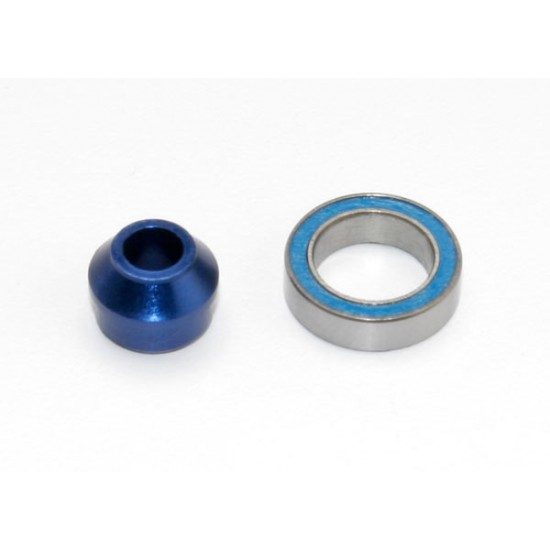 Ball bearing, 10x15x4mm, with Alu bearing adapter