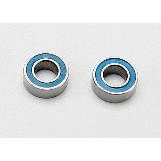 Ball bearings, 4x8x3mm, blue rubber sealed (2)