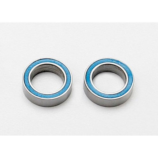 Ball bearings, 8x12x3.5mm, blue rubber sealed (2)