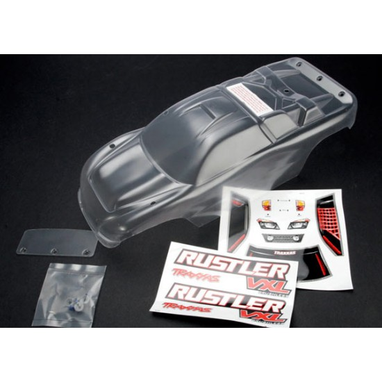 Body, Traxxas Rustler VXL, clear