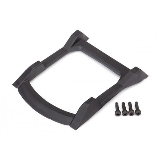 Skid plate, roof, black, Traxxas Rustler 4x4
