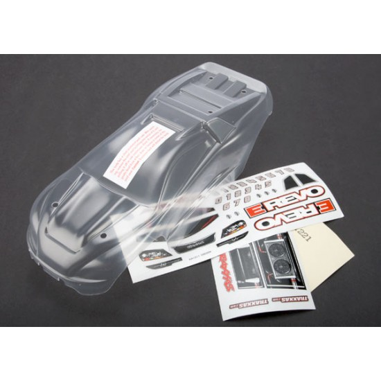 Body, Traxxas E-Revo 1/16, clear