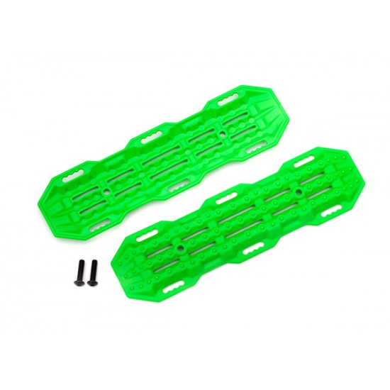 Traction boards, green, mounting hardware