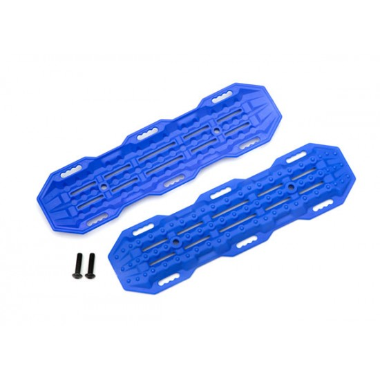 Traction boards, blue, mounting hardware