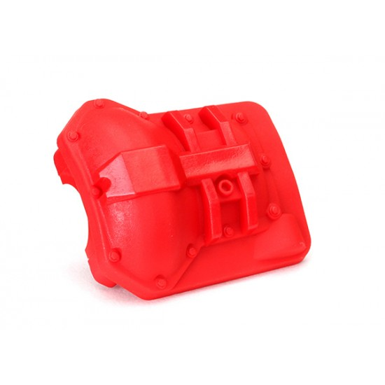 Differential cover, front or rear, red
