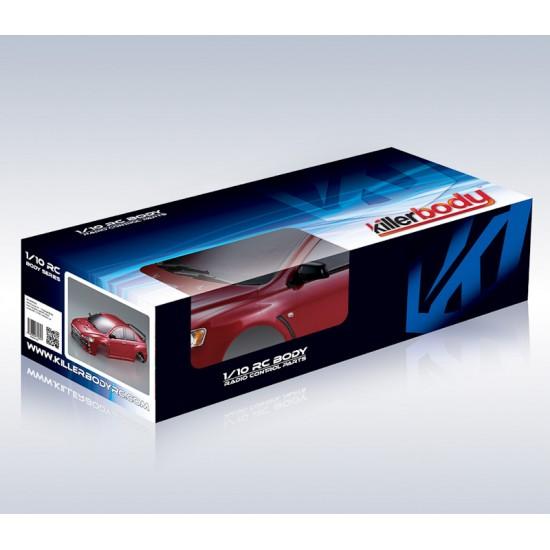 Killerbody Mitsubishi Lancer Evo X body, red, 190mm