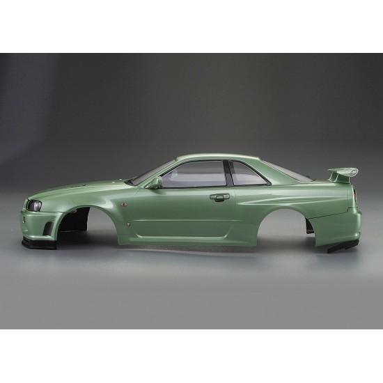 Killerbody Nissan Skyline R34 body, champagner green, 195mm