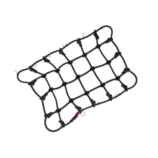 Luggage net with hooks, 190x120mm, black