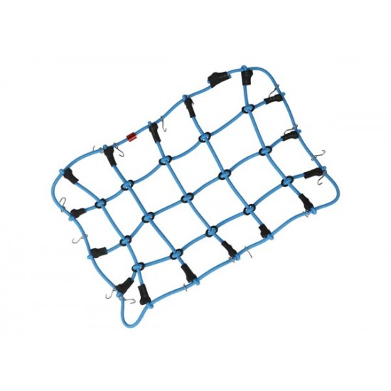 Luggage net with hooks, 190x120mm, blue