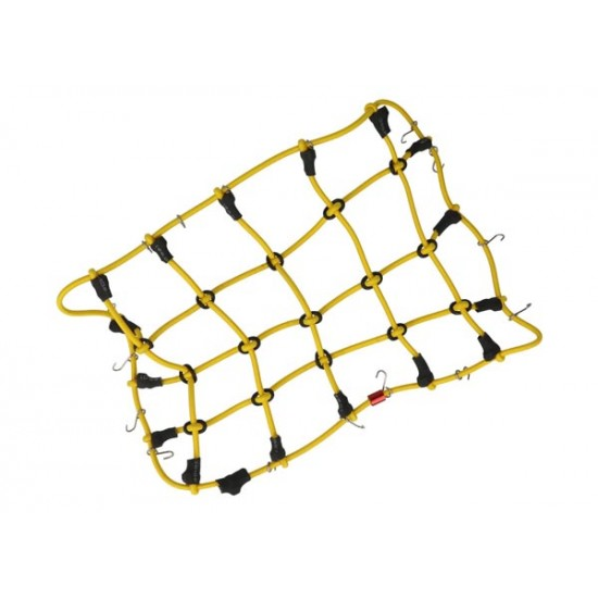 Luggage net with hooks, 190x120mm, yellow