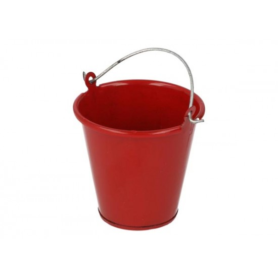 Metal bucket, red, 35mm