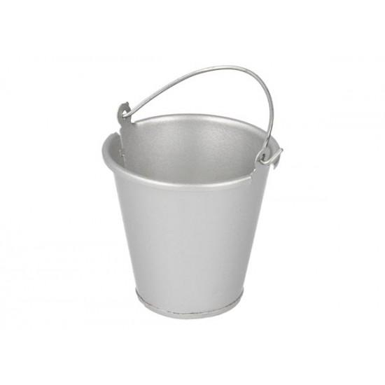 Metal bucket, silver, 35mm