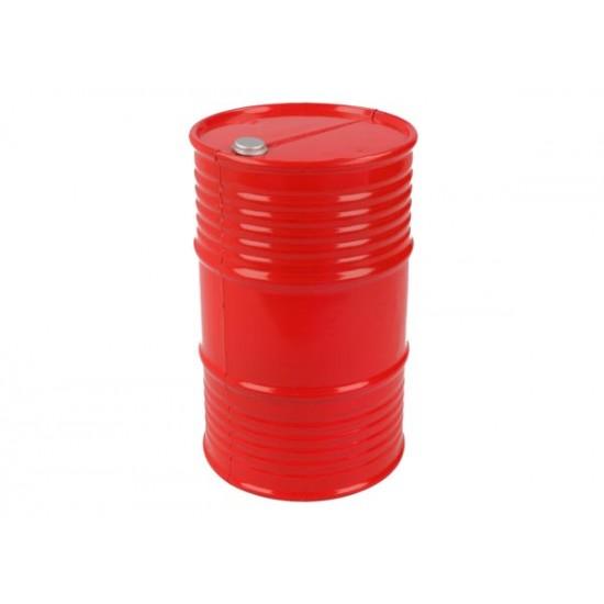 Oil barrel, plastic, red, 95mm