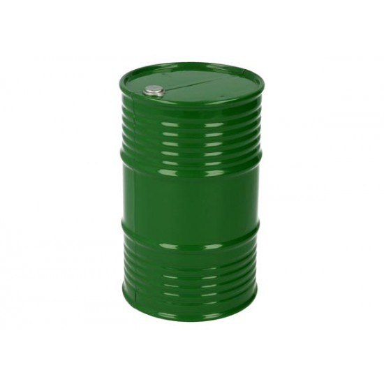 Oil barrel, plastic, green, 95mm