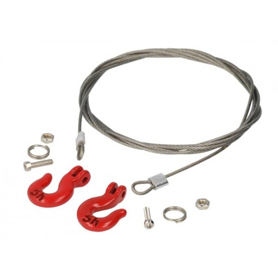 Wire rope with heavy duty hooks
