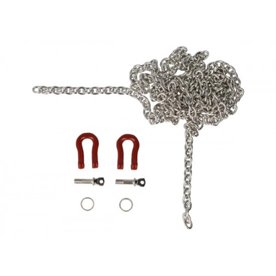 Chain, silver, with shackles