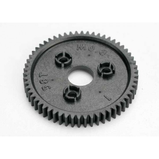 Spur gear, 58-T (0.8 metric), 32-pitch compatible