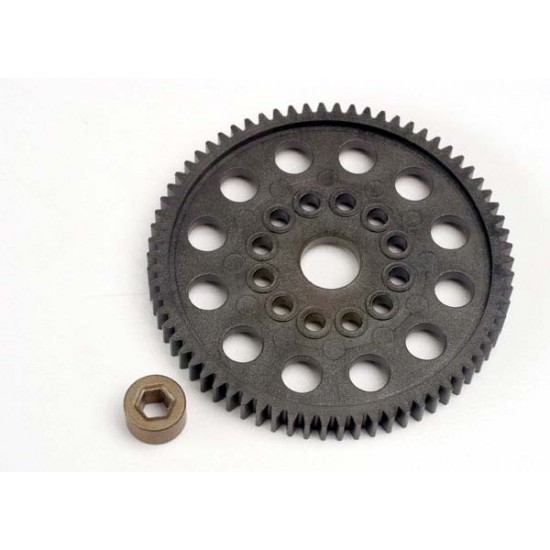 Spur gear, 70-T (32-pitch), bushing