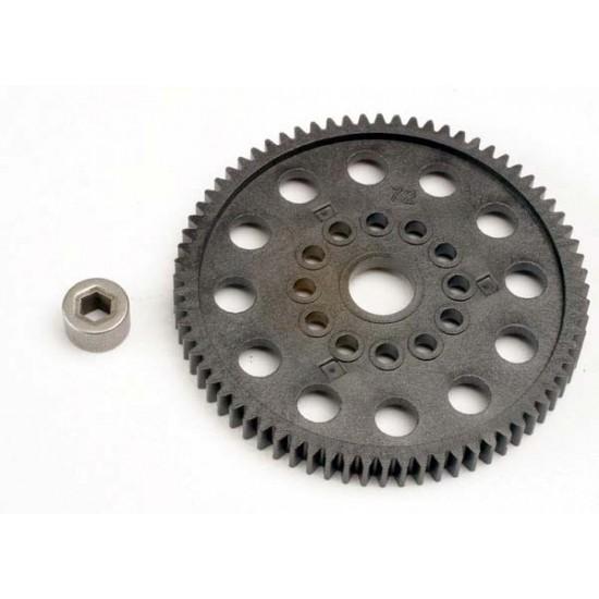 Spur gear, 72-T (32-pitch), bushing