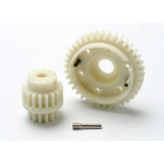 Gear set, 2-speed wide ratio 38-T, 13-T, 18-T gears