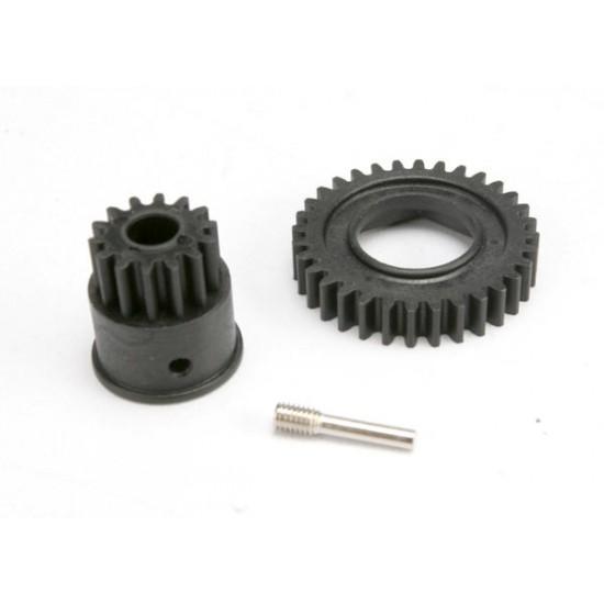 Gear set, 1-speed 32-T, input gear 14-T