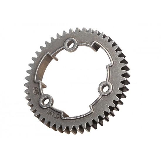Spur gear, 46-T (1.0 metric), steel