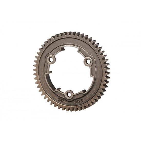 Spur gear, 54-T (1.0 metric), steel