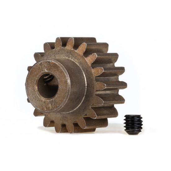 Gear, 18-T pinion (1.0 metric), set screw, 5mm shaft