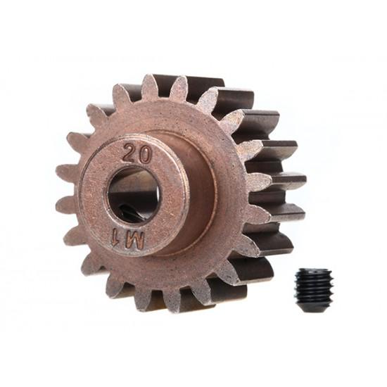 Gear, 20-T pinion (1.0 metric), set screw, 5mm shaft