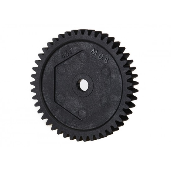 Spur gear, 45-T (0.8 metric), 32-pitch compatible