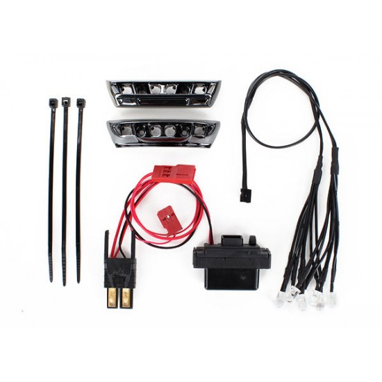 LED light kit, front and rear, Traxxas E-Revo 1/16