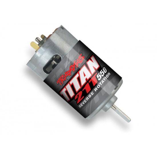 Motor, Titan 550, reverse rotation, 21-turn, 14V