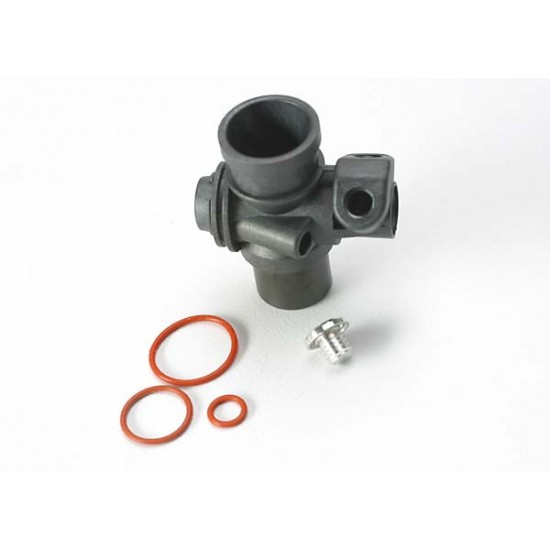 Carburetor body, fuel inlet plug, 5x.9mm O-ring, TRX3.3