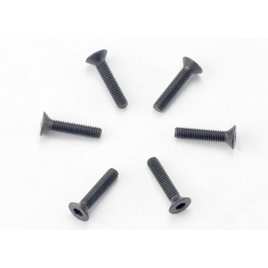 Screws, 2.5x12mm, countersunk, hex drive (6)