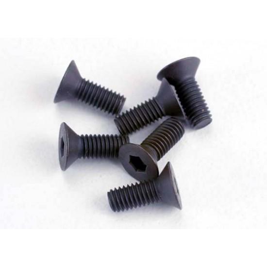 Screws, 3x8mm, countersunk, hex drive (6)