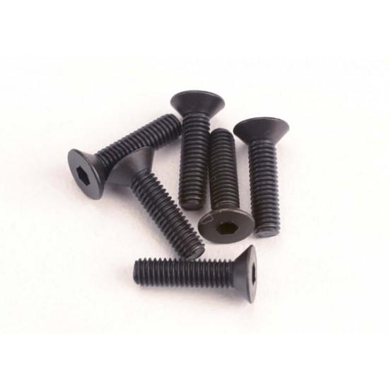 Screws, 3x12mm, countersunk, hex drive (6)