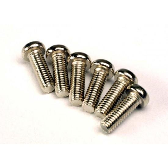 Screws, 2.6x8mm, round head (6)
