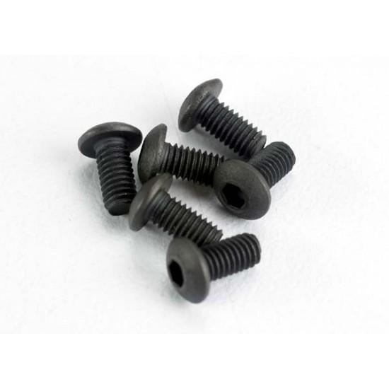Screws, 3x6mm, button head, hex drive (6)