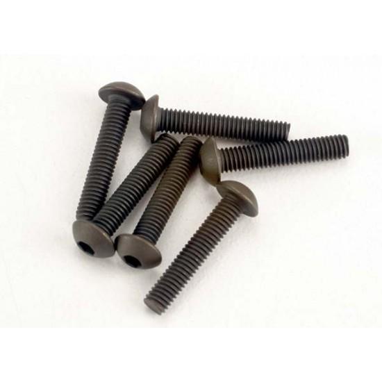 Screws, 3x15mm, button head, hex drive (6)