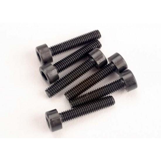 Screws, 3x15mm, cap head, hex drive (6)